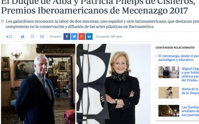 ABC. THE DUKE OF ALBA AND PATRICIA PHELPS DE CISNEROS, 2017 IBERO-AMERICAN PATRONAGE AWARDS