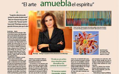 EXPANSIÓN. INTERVIEW WITH CARMEN REVIRIEGO. ART FURNISHES THE SPIRIT