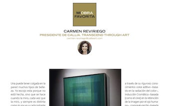 DESCUBRIR EL ARTE. INTERVIEW WITH CARMEN REVIRIEGO. MY FAVOURITE ARTWORK