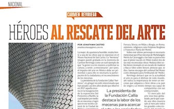 REVISTA CÓDIGO. INTERVIEW WITH CARMEN REVIRIEGO. HEROES IN ART'S RESCUE